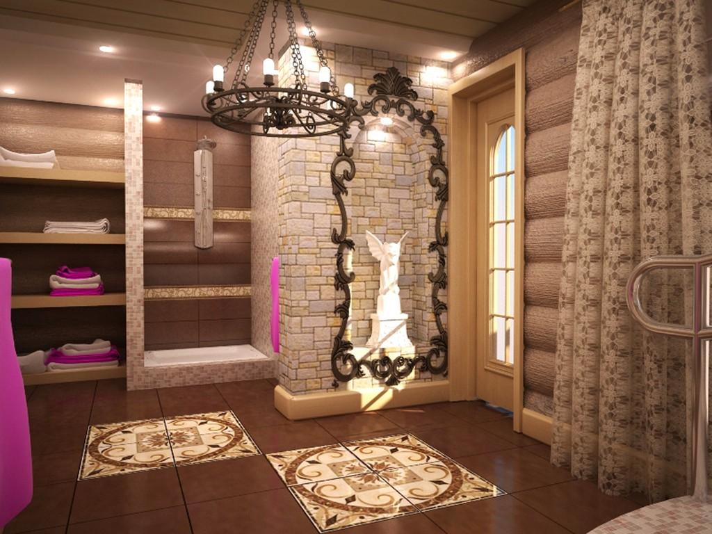 Дизайн красива баня